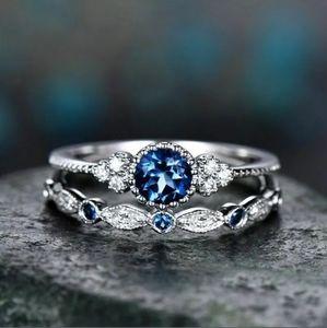 🆕 Beautiful blue CZ Rhinestones Ring 💍